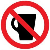 Prohibition safety sign - Drinking Prohibited 005